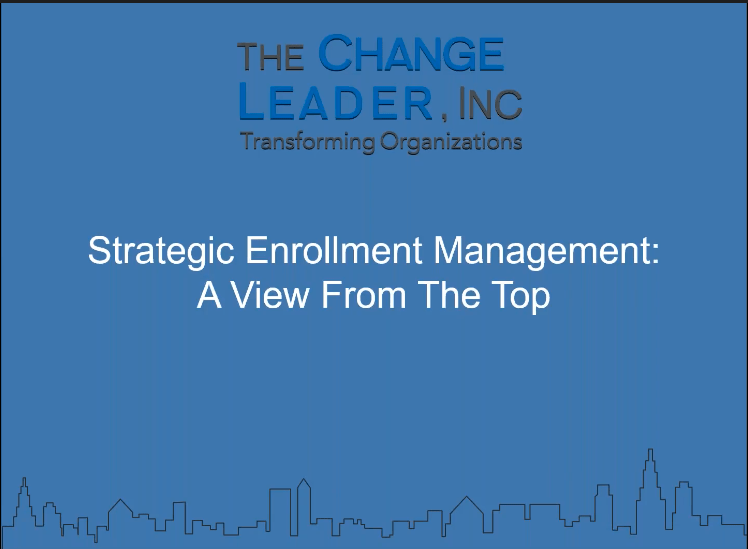 Strategic Enrollment Management Webinar for Higher Education