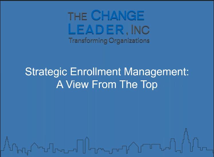 Strategic Enrollment Management Webinar for Higher Education