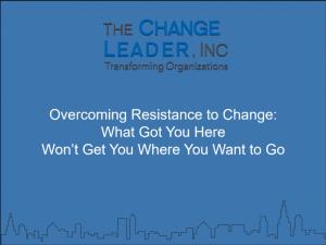 Overcoming Resistance to Change Webinar Title Slide