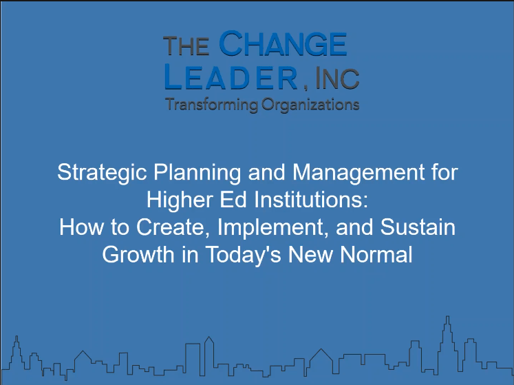 Strategic Planning and Management for Higher Ed Institutions Webinar