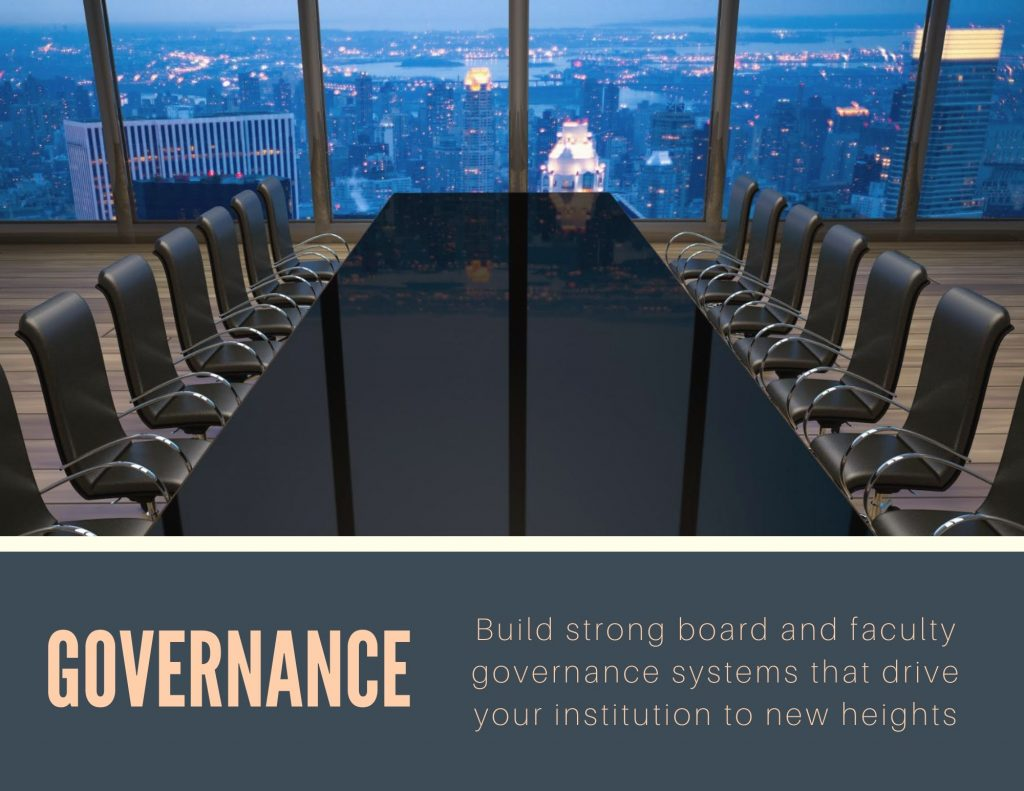 Higher education governance, board governance, and shared governance