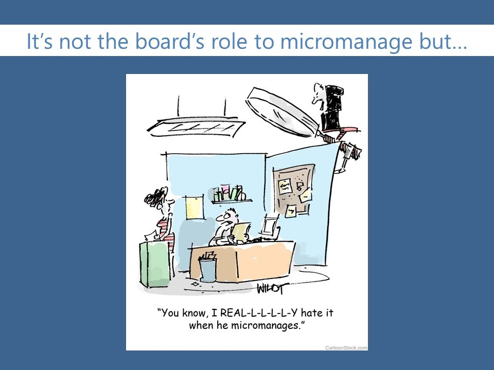 higher ed board's role is not to micromanage