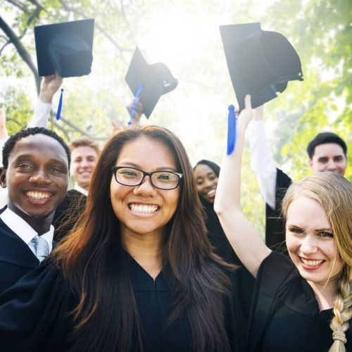 College Students Celebrating Graduation is top priority
